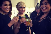 "Fern & Maple Corporate Events - Sephora / A cocktail Party @Benefit headquarters for the ""Star Council"", the top 35 store directors around North America and Sephora senior executives. The theme of the event was ""Leading Brilliance"" which we interpreted as brilliant cut, diamonds, pure gems, etc...we went for geometric / gem shapes, Sephora colors of Bblack & white, incorporating gem bling with silver & gold in addition to this years pantone color of the year Marsala."
