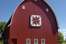 Barn Quilts / Great quilts on beautiful buildings