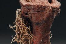 Egyptian terracotta statuettes / Egyptian terracotta statuette - Egyptian pottery statuette -  Egyptian terracotta Bes - Roman terracotta Priapus - Harpocrates - Egyptian statue - Egyptian stauary