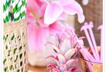 Pink and Green Weddings / Pink and Green Color Combinations. A fresh pairing for weddings, showers, and parties.