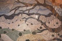 Granite Mosaics / Granite as used in art.