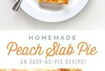 Peach cakes and tarts