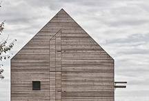 Classic House Shaped Houses / Shape and Texture