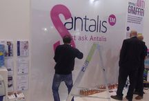 Our Graffiti stand at Sign & Digital UK 2015 / Pictures of our stand at Sign & Digital UK 2015, featuring our Graffiti artist testing out Protac Anti Grafiiti amongst other products.