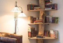 Okuma köşesi  ve kitaplık