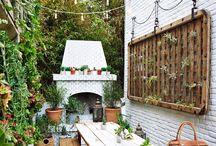 < tiny patios >