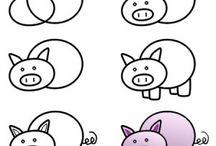 Rysunek zwierzęta