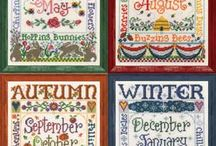 Cross Stitch-Months & Seasons