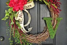the front door decor / by Shelby Franklin