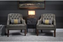 TUFTED FURNITURE / Button-tufted furniture for the dining and living rooms, bedroom, den, home office, man cave and beyond.  Club, slipper, dining, side and accent chairs, ottomans, beds, headboards, sofas, sectionals, love seats, bar stools, benches, chaises, settees, recliners, &more.  Black, brown, red, cream, white, blue, orange, green, gray, silver, purple, pink, yellow & other fabric, velvet, & leather color options. Ideal for traditional, contemporary, modern, rustic, industrial and shabby chi-styled homes. / by Homeclick.com