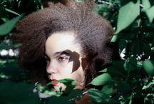 Afro model