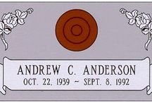 Individual Granite Headstone Designs with Vases / Granite headstones from http://www.thecasketstore.com are fully custom designed. Talented graphic designers will create exactly the marker you want.