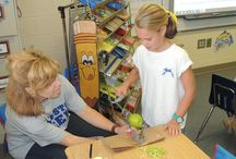 Third Grade Learns to Make Applesauce / Mrs. Cowart's third grade class recently learned how to core an apple and then make applesauce.