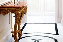 engraving marble flooring