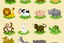 animales dibujos infantil / ilustraciones