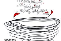 Coloring Calendar - What my Tea says to me - 2016 / Bring out your inner kid this next year and start coloring, playing, and doodling today!