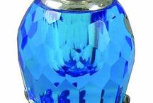 925K Sterling Silver Flower Figured Perfume Bottle Sky Blue | eBay
