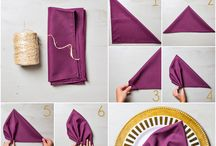 Napkin Folding / Napkin Folding Inspiration