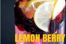 lemon berry detox water