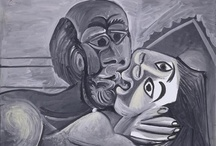 """Romance Paintings / A great collection of modern art that spells """"ROMANCE"""" from some of my favorites -- Klimt, Picasso, Frida Kahlo, and others."""
