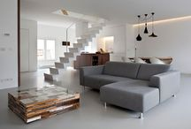Metallic grey floors