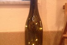 Christmas table ideas / Wine bottle with Christmas twinkle lights