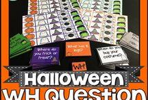 Halloween / Halloween speech and language activities
