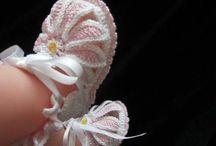 Вязаные крючком новорожденные девочки