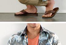 Moda de verão para homem