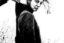 PLUM illustrations / #girl #comics #illustration #black&white