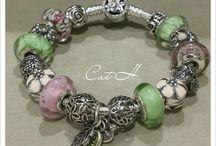 My Pandora / Blue muranos on oxy bracelet
