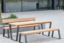 Bank bench