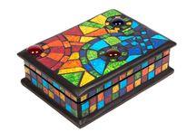 cajas mosaiquiadas