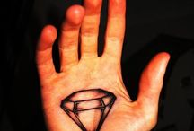 Diamond Tats / A diamond is forever...only when you tattoo it to your body.  Best move is to sell unused diamond jewelry to finance purchases of beautiful body art.  Here's some cool ones!