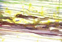 Sadut, tarut ja myytit - akvarellikurssi 1.-5.7.2013 / Kurssilla lähestyttiin vaihtelevien tehtävien avulla omia sisäisiä satukuvia. Kurssi ei ollut kuvituskurssi vaan akvarellimaalauskurssi, jonka lähtökohta oli satujen ja myyttien maailmassa sekä Suomenlinnan kiehtovassa ympäristössä. Itse käsittelin Pandoran lipas -myyttiä: ihmisen kuolettavaa uteliaisuutta ja halua tietää sekä puita, ikuisuusaiheitani.