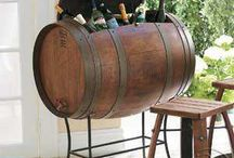 .wine furniture. / its amazing what you can do with a barrel.