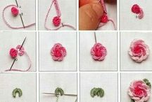 Knitted rose