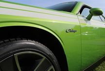 Blue sky, green Challenger. What more could you ask for? - photo from dodgeofficial
