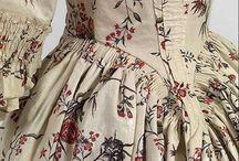 XVIII robe a la anglaise / XVIII w. suknia w typie angielskim
