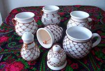 drátovaná keramika, lahve