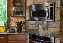Wood/brown kitchens