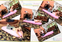 Pregancy Pillow / New Mom's Pregnancy Pillow for Comfortable Sleeping Position. It encourages right sleeping position on your belly. To buy the best body pillow, visit www.cozybump.com.
