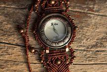 Reloj macrame