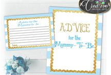 Baby Shower Games Light Blue Stripes, Invitations, Decorations and more... / Hi, thank you for visiting this beautiful baby shower board with light blue stripes theme. Here you can find a lot of baby shower decorations and activities with over 40 listings in this theme.