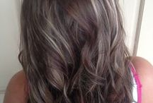 Long brunette with grey