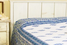 Blue Bedspreads / Blue Bedspreads - Indian Cotton Bedspreads - Indian Bedspread