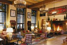 Fireplaces & Grand Lodges / http://www.mstoneandtile.com/stone-fireplace-mantels/fireplaces-grand-lodges/