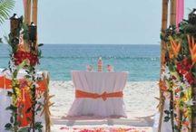 An Orange and Pink Beach Wedding / Big Day Weddings, Orange and Pink wedding theme, Orange Beach Alabama, Gulf Shores Alabama, Gulf Coast Weddings, Alabama Beach Weddings, Beach Weddings, Color Schemes, Wedding Themes