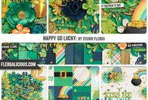 Happy Go Lucky by Studio Flergs / St Patricks Day inspired digital scrapbooking collection & clip art by Studio Flergs available March 25th at Sweet Shoppe Designs http://www.sweetshoppedesigns.com/sweetshoppe/home.php?cat=619&&sort=add_date&sort_direction=0