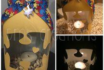 Autism Painted Jars